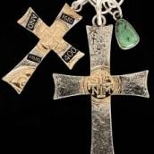 SF 400 Crosses, Cerrillos Turquoise Pendant