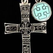 SF 400 Cross #1 with Turquoise Cross Pendant