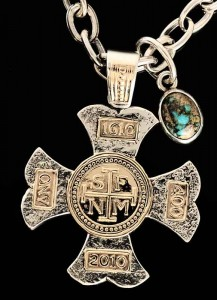 Cruz de Petalo with Cerrillos Turquoise