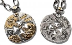 14kt Gold, argentium sterling silver