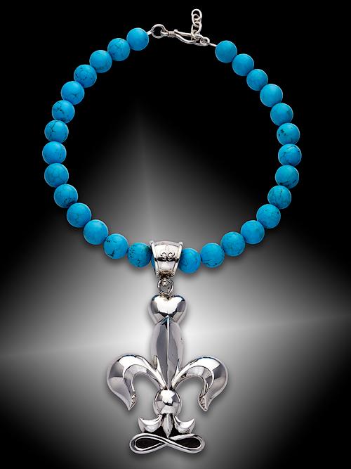 Fleur-di-lis necklace